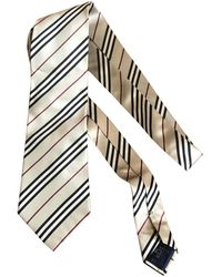 Burberry Beige Synthetic Ties - Natural