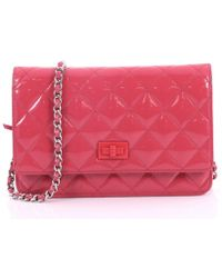 Chanel - Pre-owned Wallet On Chain Patent Leather Handbag - Lyst