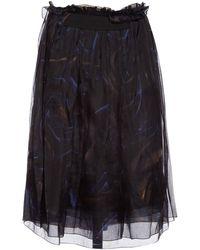 Céline - Black Silk Skirt - Lyst