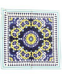 Maje - Blue Silk Silk Handkerchief - Lyst