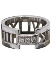 Tiffany & Co. - Atlas Silver White Gold Ring - Lyst