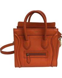 Céline - Pre-owned Nano Luggage Leather Crossbody Bag - Lyst