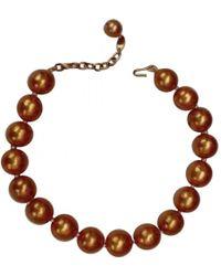 Chanel - Pre-owned Vintage Orange Metal Necklaces - Lyst
