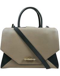Givenchy - Obsedia Tote Grey Leather Handbag - Lyst