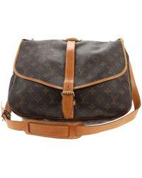 Louis Vuitton - Saumur Cloth Crossbody Bag - Lyst