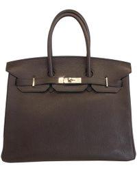 Hermès - Pre-owned Birkin Leather Handbag - Lyst
