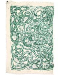 Barbara Bui - Pre-owned White Viscose Scarves - Lyst