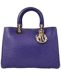 Dior - Lady Ostrich Handbag - Lyst