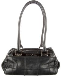 Chanel - Leather Bowling Bag - Lyst