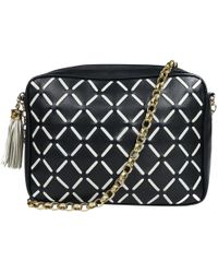 Lyst - Chanel Leather Crossbody Bag in Black cc6cb63482cf1
