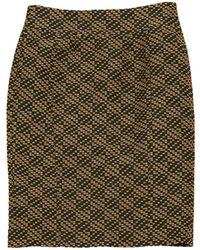 Burberry - Black Polyester Skirt - Lyst