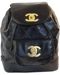 1c87d0d6a242 Lyst - Chanel Pre-owned Leather Backpack in Natural