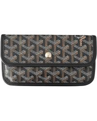 Goyard - Black Cloth Clutch Bag - Lyst