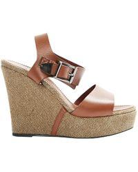 Barbara Bui - Camel Leather Sandals - Lyst