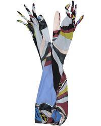 Emilio Pucci - Multicolour Silk Gloves - Lyst