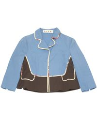 Marni - Pre-owned Blue Cotton Jackets - Lyst
