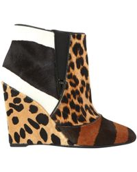 Dior - Brown Pony-style Calfskin Ankle Boots - Lyst