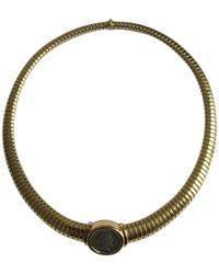 BVLGARI - Pre-owned Vintage Monete Yellow Yellow Gold Necklaces - Lyst