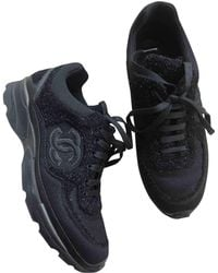 Chanel - Black Polyester Trainers - Lyst