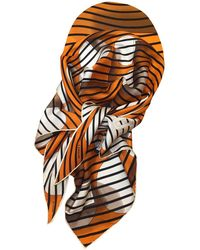 Hermès - Orange Silk Scarves - Lyst