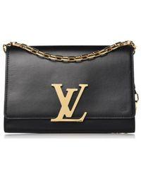 Louis Vuitton - Louise Black Leather Handbag - Lyst