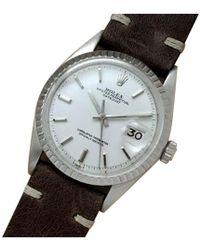Rolex - Vintage Datejust 36mm White Steel Watches - Lyst