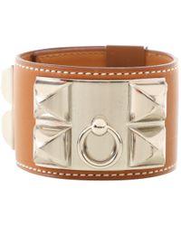 Hermès - Collier De Chien Brown Leather - Lyst