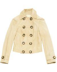 Michael Kors - Leather Short Vest - Lyst