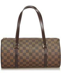 Louis Vuitton - Pre-owned Papillon Brown Cloth Handbags - Lyst