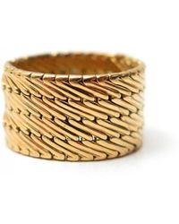 Hermès - Pre-owned Vintage Gold Yellow Gold Ring - Lyst