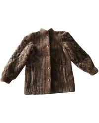 Dior - Faux Fur Coat - Lyst