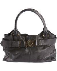 4acd8fc9ed04 Burberry Lindburn Embossed Leather Hobo Bag - Black in Black - Lyst