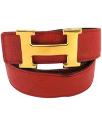 Hermès - Pre-owned H Leather Belt - Lyst