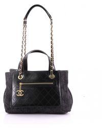 3ed625664a74 Chanel Pre-owned Blue Denim - Jeans Handbag in Blue - Lyst