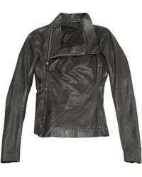 Rick Owens | Pre-owned Leather Jacket | Lyst