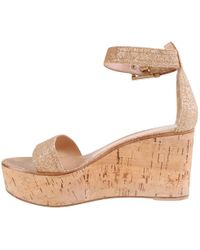 Gianvito Rossi - Gold Leather Sandals - Lyst