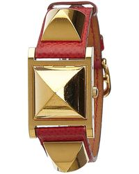 Hermès - Vintage Médor Gold Gold Plated Watches - Lyst
