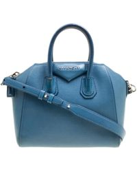 Givenchy - Antigona Blue Leather - Lyst