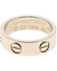Cartier - Love Other Platinum - Lyst
