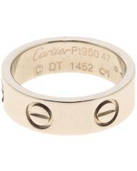 Cartier Love Platinum Rings - Metallic