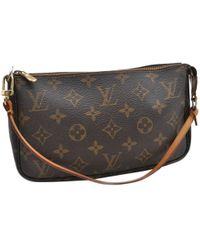 Louis Vuitton - Pochette Accessoire Brown Cloth - Lyst