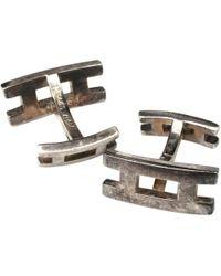 Hermès - Pre-owned Silver Cufflinks - Lyst