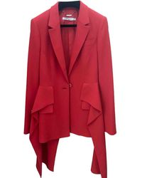 Givenchy - Pre-owned Red Viscose Jacket - Lyst