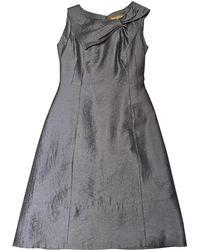 Louis Vuitton - Pre-owned Blue Wool Dress - Lyst