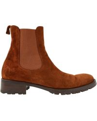 Loro Piana - Camel Suede Ankle Boots - Lyst