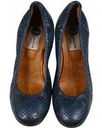 Lanvin - Blue Leather Heels - Lyst