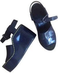 Céline - Patent Leather Sandals - Lyst