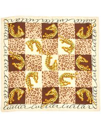 5e8abd7a8e95 Lyst - Étole Carré soie et zibeline Hermès en coloris Marron