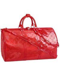 Louis Vuitton Bolsos en plástico rojo Keepall Prism