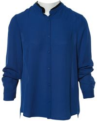 The Kooples - Pre-owned Blue Polyester Top - Lyst